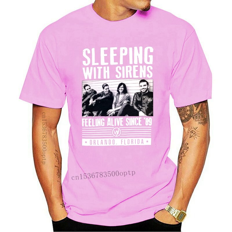 New Sleeping with Sirens t-shirt men gift printed casual short sleeve t-shirt US plus size S-3XL