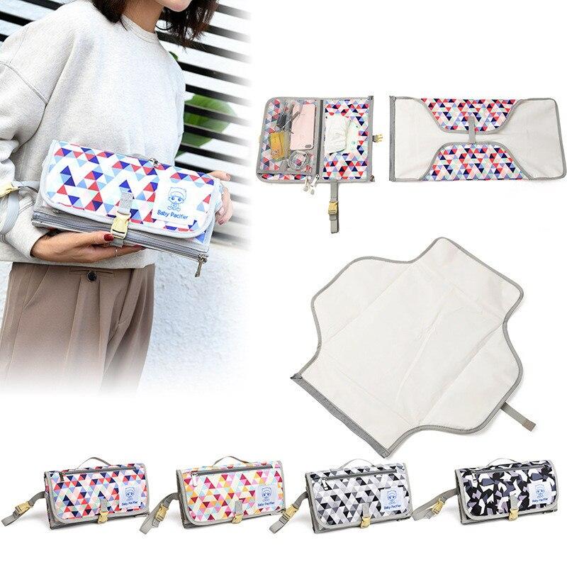 Baby Changing Mat Portable Foldable Washable Waterproof Mattress Changing Pad Mats Reusable Travel Pad Diaper