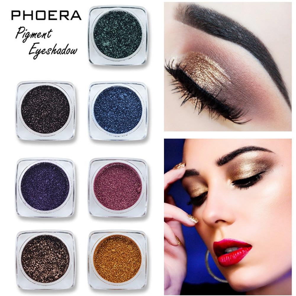 PHOERA 12 colores brillo monocromo sombra de ojos brillo polvo profesional impermeable duradero pigmento ojos paleta de maquillaje TSLM2