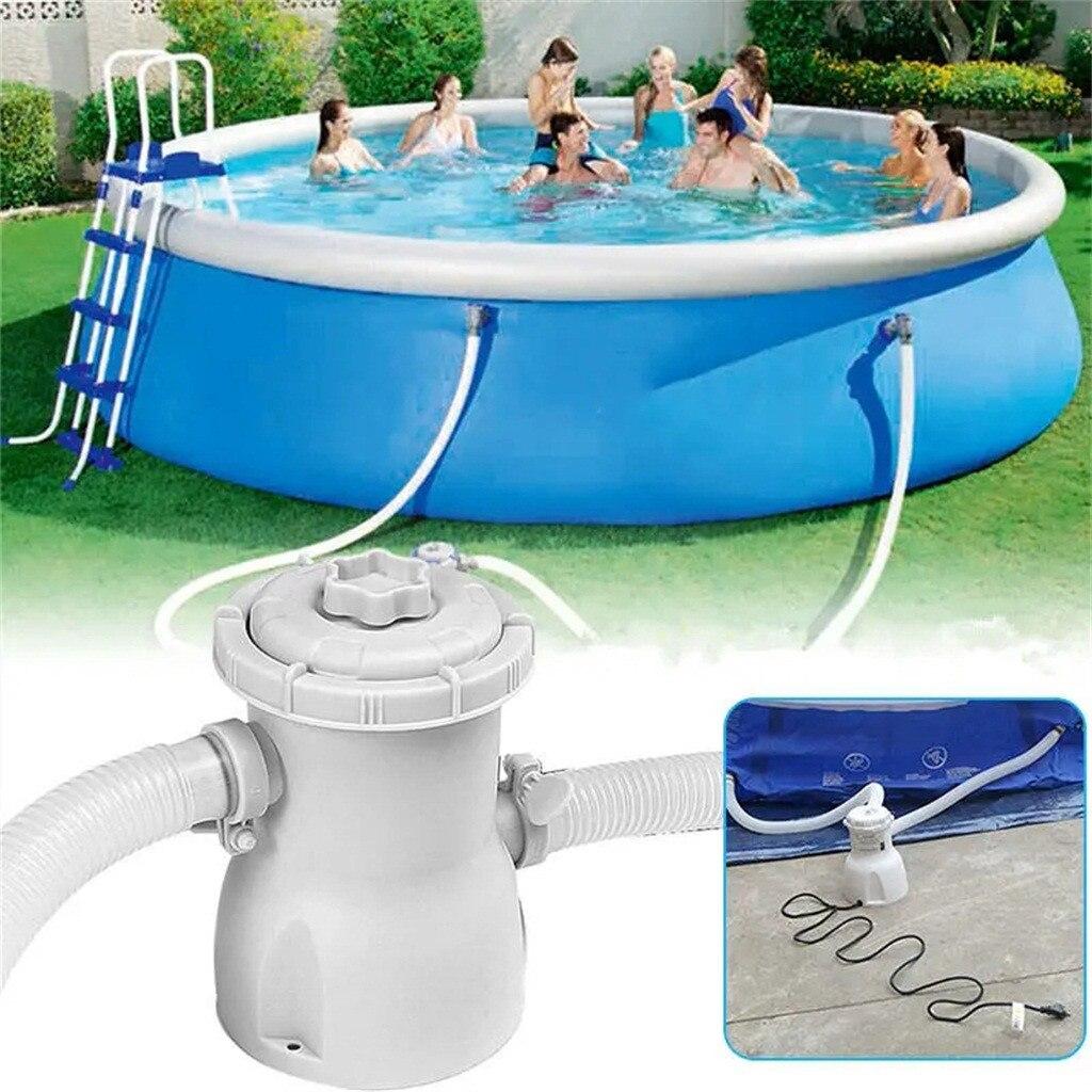 Filtro de Bomba de piscina con enchufe estadounidense, Kit de limpieza de agua para piscina de verano, larga vida útil, filtro de Bomba de piscina para natación, suministros para natación Zwembad