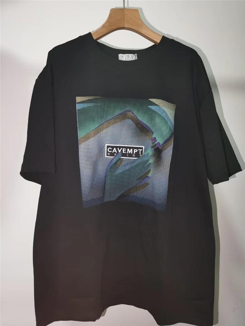 T-Shirt Dos Homens Das Mulheres Cav Overydye Pressuposto Básico Tops Desbotada CAVEMPT C.E Pequeno Salão T Camisa de Algodão T-shirt Dos Homens