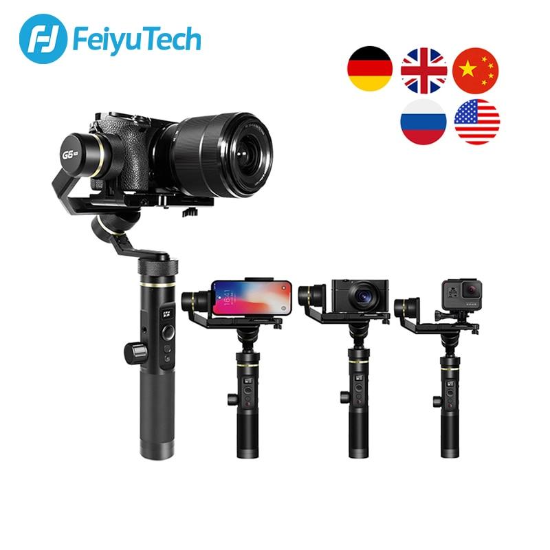 FeiyuTech G6 Plus 3-Axis G6P مثبت انحراف محمول باليد لكاميرا عديمة المرآة GoPro تحميل الهاتف الذكي 800g Feiyu G6P