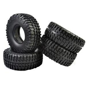 4pcs RC Crawler Rubber 100mm 1.9 Inch Tires for Axial SCX10 D90 RC Rock Car Parts