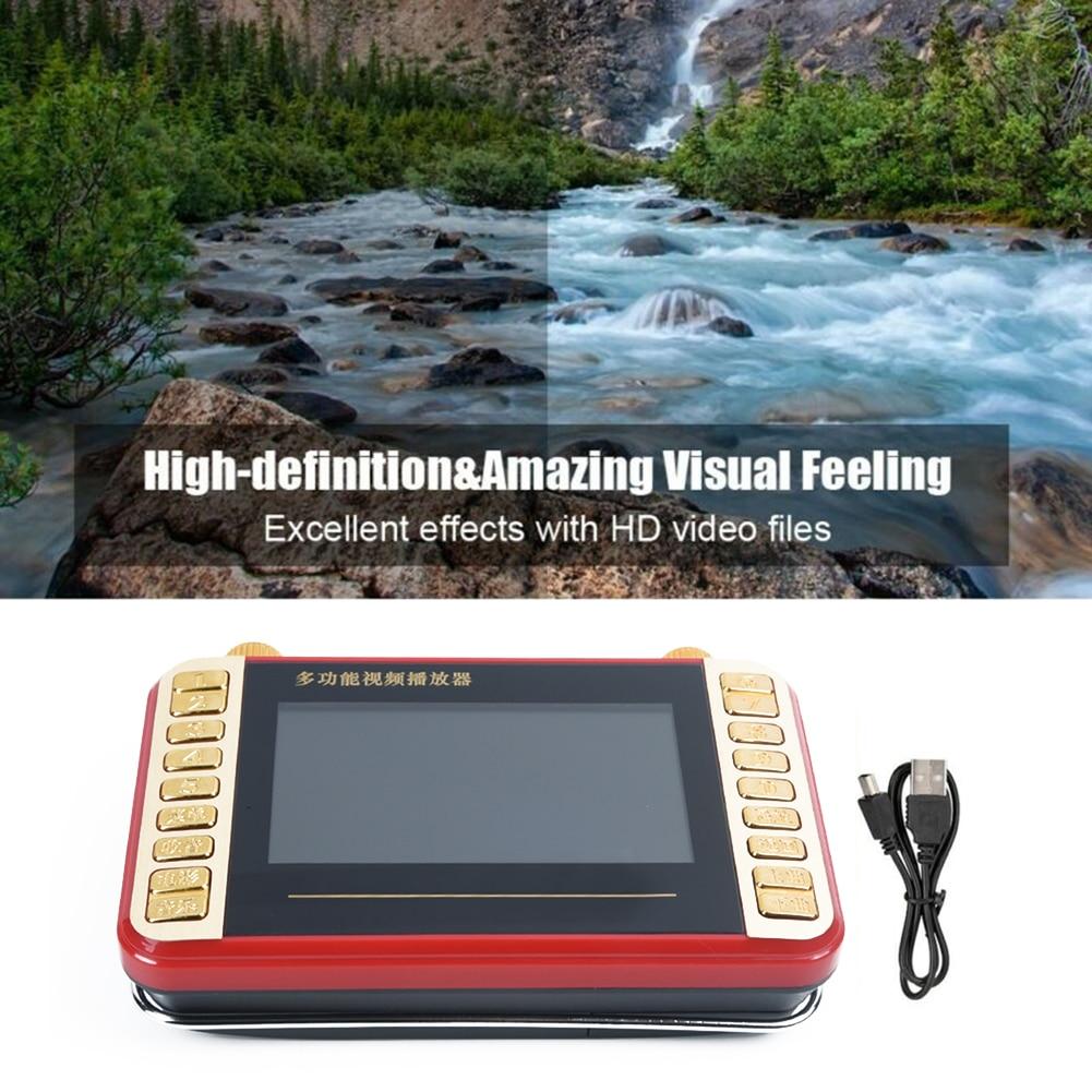 Mini reproductor de MP3 Digital de pantalla HD de 4,3 pulgadas, música, Audio, Video, grabadora, Radio FM con soporte de bolsillo