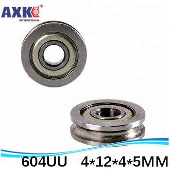 10 Uds ABEC-5 guía para caminar de 4mm ranura de raíl U ranura 604UU 4*12*4*5mm rodamientos de rodillos de alimentación dedicados para impresora 3D U604W5 U604ZZ