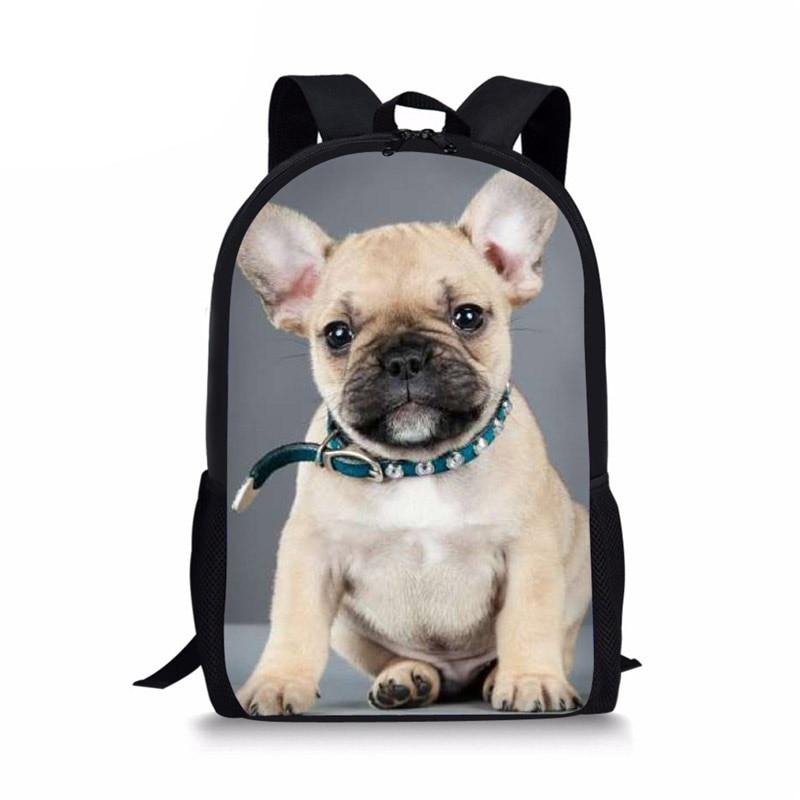 Фото - French Bulldog 3D Print School Bags Children Casual Schoolbags Book Rucksack Cute Animal Shoulder Backpack for Women french bulldog