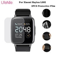 2pcs hd protective film for xiaomi mi haylou ls02 smart watch protector film for xiaomi haylou ls02 watch screen protector cover