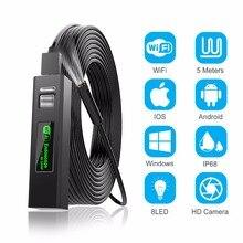 Cámara endoscópica inalámbrica de 3,9mm/8mm, boroscopio HD de 2,0 MP, Cable rígido de serpiente para iPhone, Android, Samsung, Huawei, Tablet PC