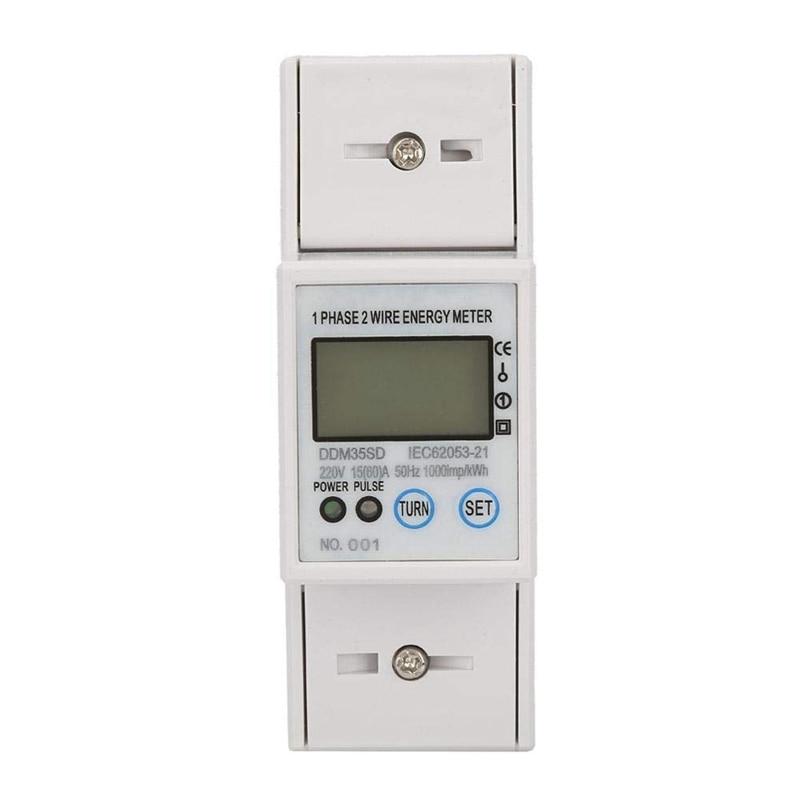Nuevo protocolo MODBUS RS485 monofásico de dos cables pantalla LCD retroiluminada 220V 50Hz amperímetro de carril Din medidor de energía medidor de vatios