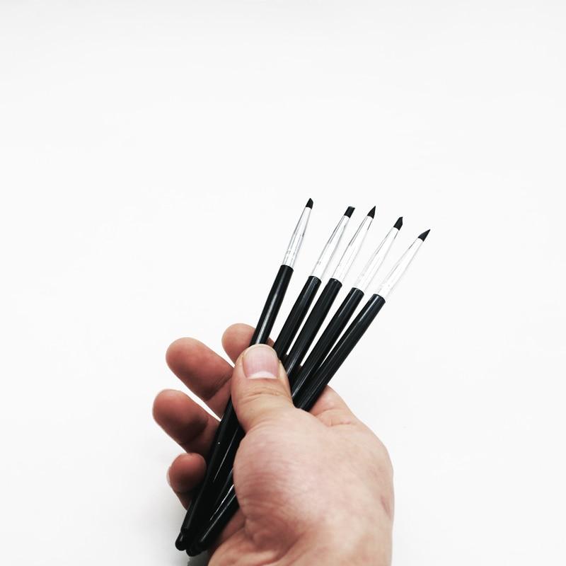 5 шт. стоматологические лабораторные композитные силиконовые каучуковые кисти ручки стоматологические изделия для клейкой каучуковой фар...