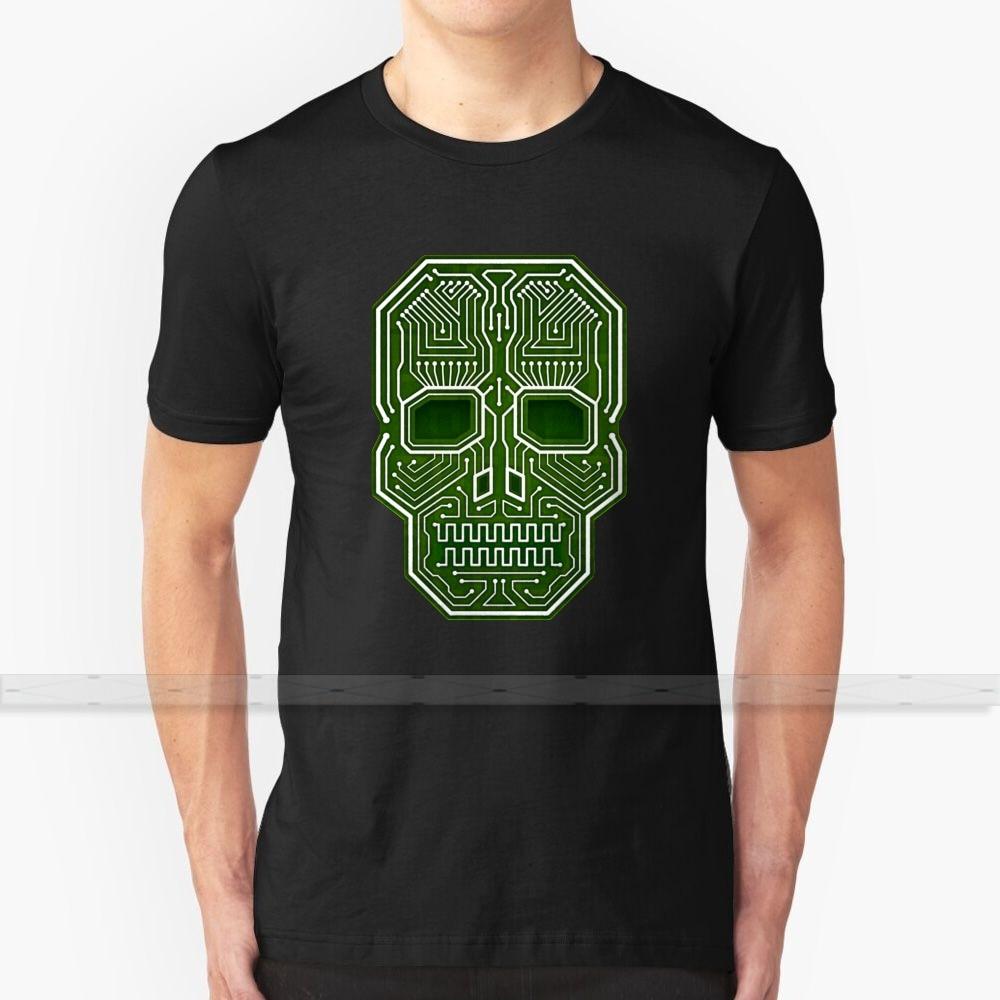 Camiseta Skull Hacker versión aislada para hombres mujeres Tops verano algodón Camisetas talla grande S - 6XL Hacker Skull Crossbones Cyber