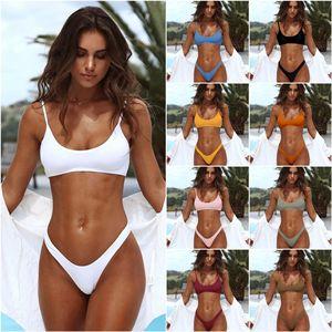 2020 Sexy Bikini Swimwear Set Women Push Up Padded Bandeau Beachwear Biquini Brazilian Swimsuit Women Beachwear Bathing Suit
