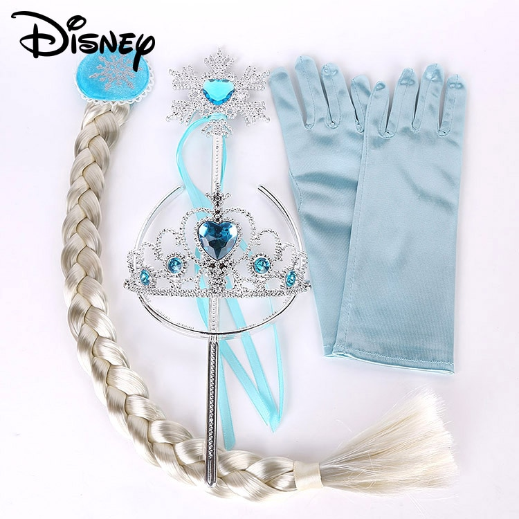 disney frozen princess hair accessories baby girls magic wand toys children's toys birthday gift party crown headband cosplay