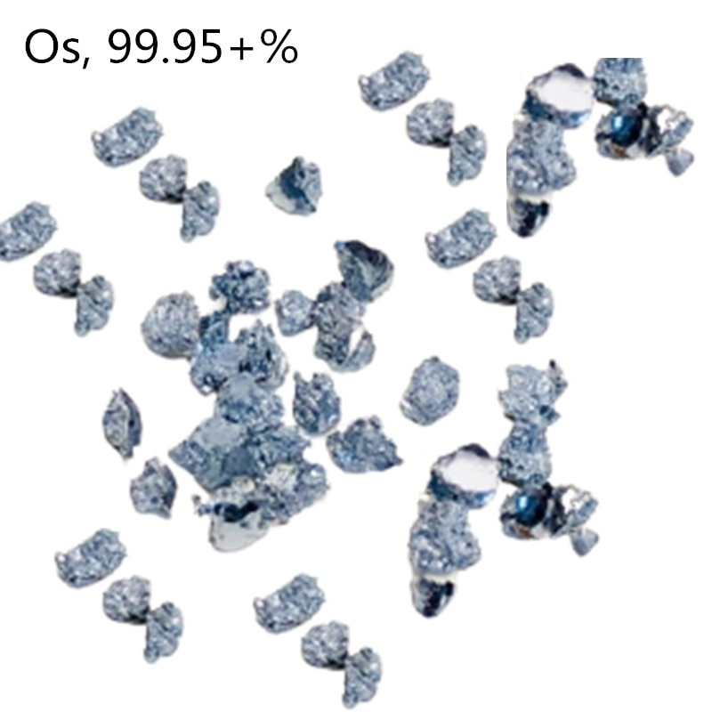0.1g/0.5g/1g Os Crystal Osmium Metal Small Block Scientific Research Experiment Element Hobbies Collection