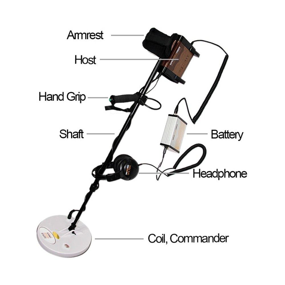 Detector de metales de alta sensibilidad GFX7000, trecure Hunt, caza de largo alcance, caza de oro profundo, buscador de minería, GFX-7000 de inducción de pulso