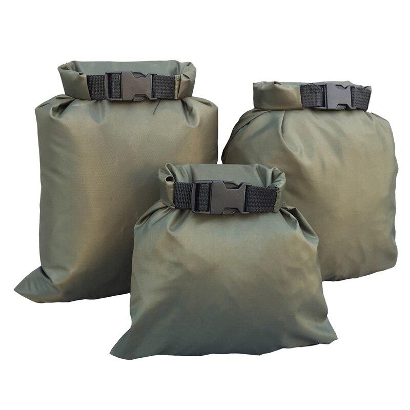 3 unids/set que transportan bolsas impermeables de nailon verde de silicona revestidas de silicona DuPont cordura 30D de gran calidad 30D 2020