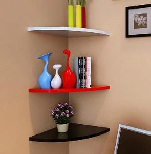 Shaped Decorative Wall Shelves Wood Wall Shelves Modern black,white 3D Wall Sticker Korean Wall Shelfs