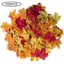 1000 Uds Artificial de Hojas de arce de simulación de Hojas de arce falso hojas de otoño para la casa decoración para fiesta de boda