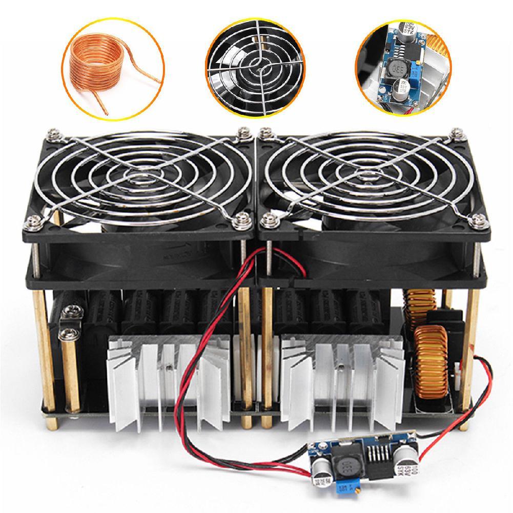 1800 واط/2500 واط ZVS جهاز تسخين حثي ماكينة حرارة التوجيه لوحة دارات مطبوعة وحدة Flyback سائق سخان مروحة التبريد واجهة لفائف
