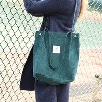 corduroy canvas bag portable storage bags large capacity all match shoulder handbag simple fashion shopping totes
