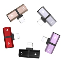 T-shaped Headphone 2-in-1 Dual-port Headphone Adapte for iPhone 12 8 Plus X XS Xs Max 11 Audio Charg