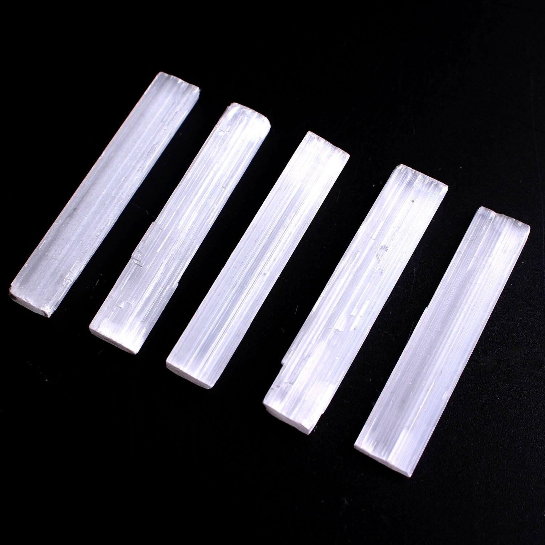 30g/50g Natural blanco selenita palos ásperos Mineral espécimen curativo cristal Wand colgante con forma Irregular que hace la piedra