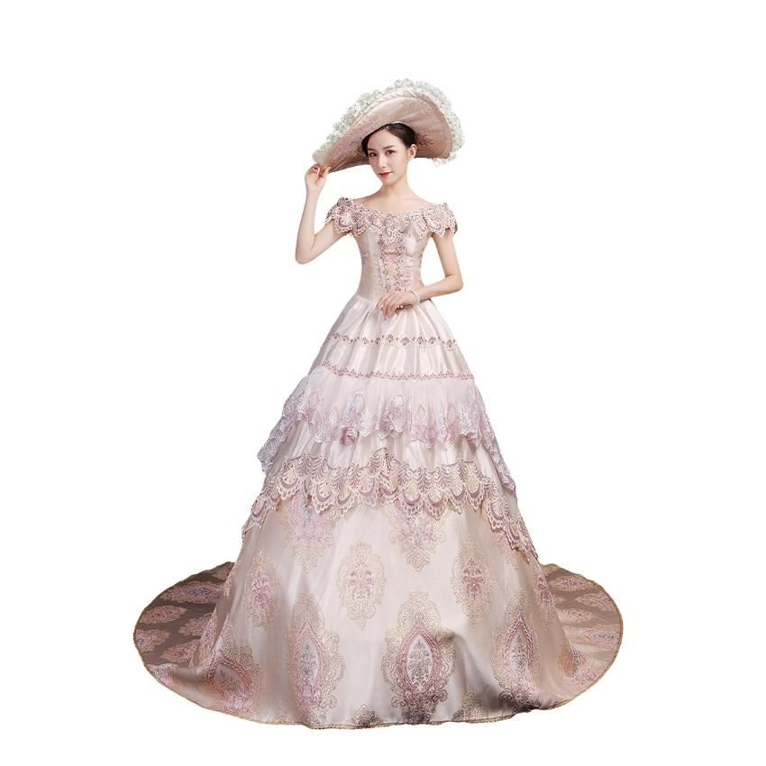 Vestido vitoriano para mulher rococó barroco marie antoinette vestidos de baile século 18th renascentista período histórico vestido