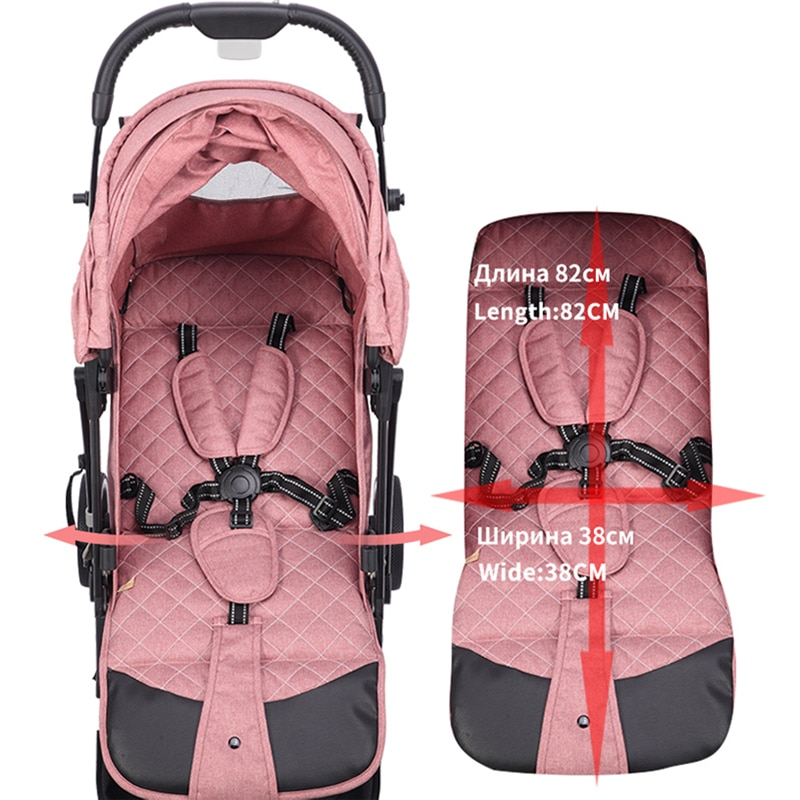 The New Dearest 818+ Poussette Waterproof and Windproof Design  One-button Folding Stroller  Free Shipping In Russia enlarge