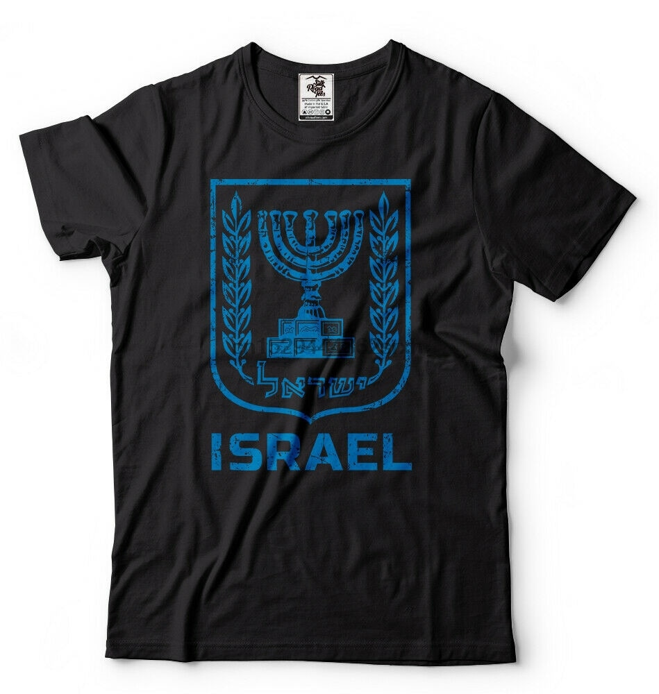 Israel Flag T shirt Menorah Israeli Patriotic T shirt Israel Heritage Tee