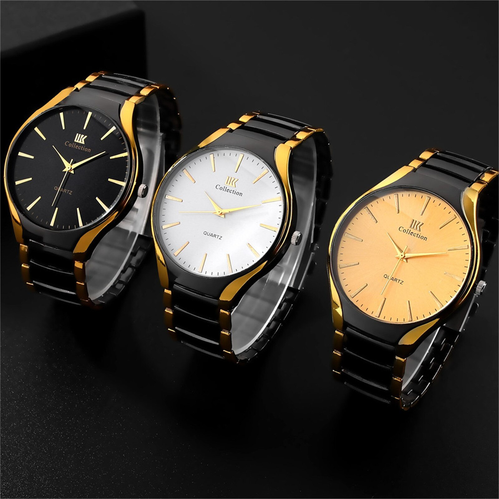 Luxury Brand Men's Watches Fashion Business Watch Clock Stainless Steel Strap Men Quartz Wristwatche