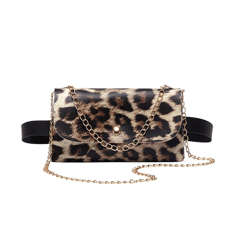 Chain Waist Women Snake Leopard Print Bags and Belt New Fashion Ladies Casual Belt Phone Waist Packs for Women A147