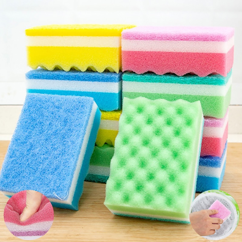 Sponge Scouring Pad Kitchen Household Home Cleaning Pad Dishwashing