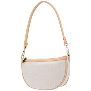 Elegant Half Round Women Shoulder Bag Simple Stylish Circle Design Tote Handbags and Casual Phone Clutch Purses