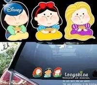 disney princess car stickers fun belle schneewittchen body stickers creative car stickers