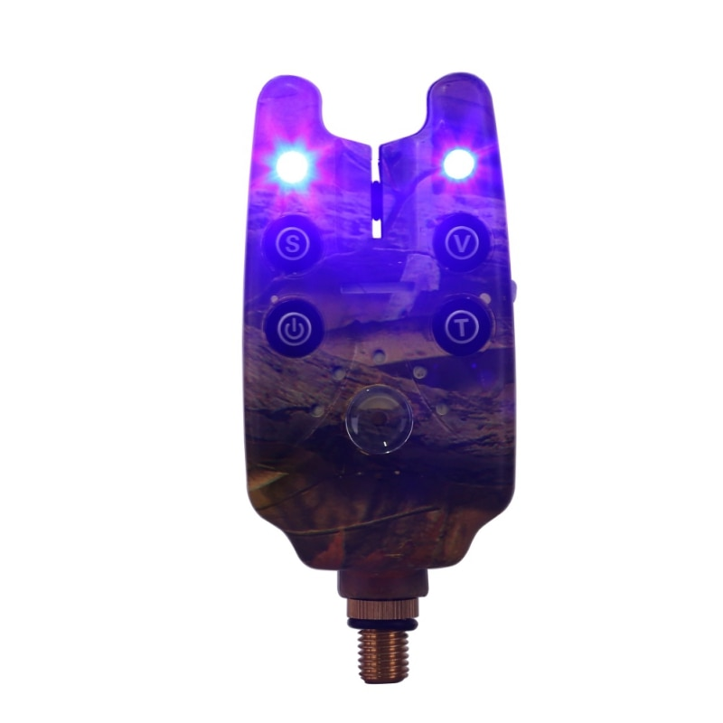 Fishing Bite Alarm Waterproof 2 LEDs Blue Light Adjustable Tone Volume Sensitivity Sound Fish Bite Alarm Fishing Tools enlarge