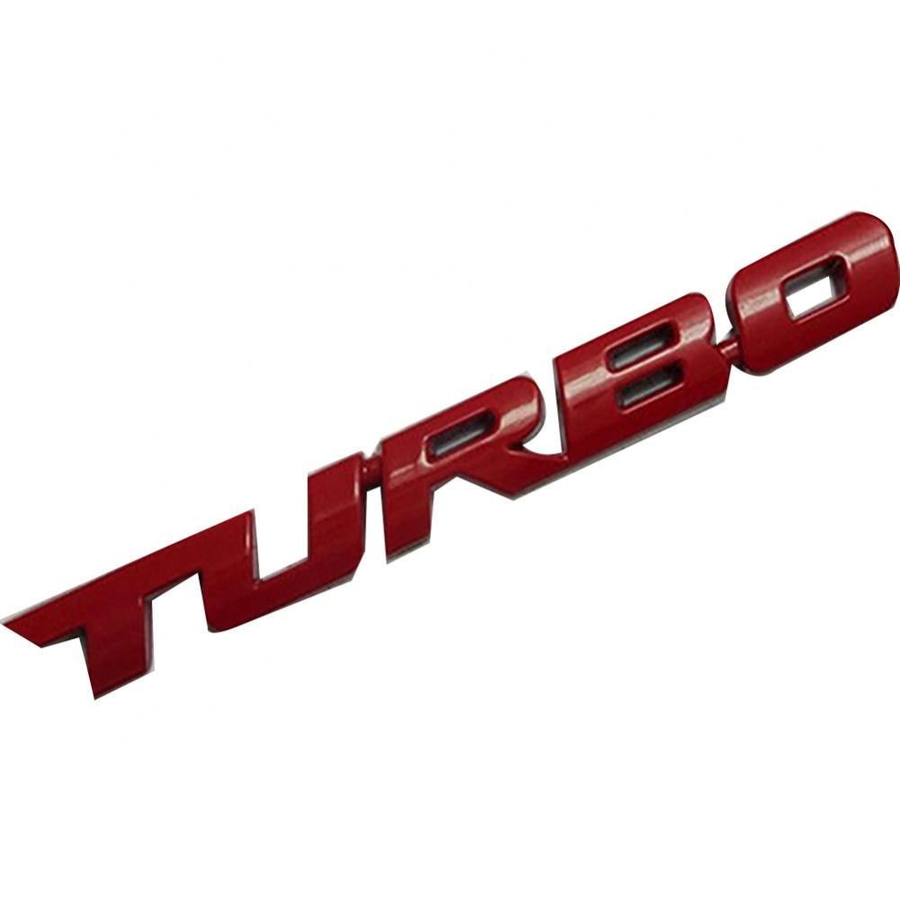 60%  Dropshipping! Cool 3D Alloy Metal Letter Turbo Car Motorcycle Emblem Badge Sticker Decal Decor