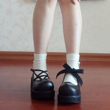 Rosetic Frauen Schuhe Dark Schwarz Pentagramm Gothic Dicke Schuhe Harajuku Mädchen Kreuz Straps Big Kopf Puppe Schuhe Vintage Frauen Schuhe