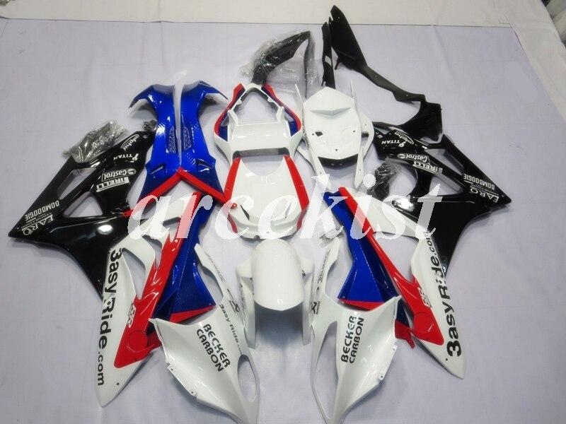 4 هدايا جديد ABS Fairings Kit Fit for BMW S1000RR Hp4 2009 2010 2011 2012 2013 2014 09 10 11 12 13 14 هيكل السيارة مجموعة الأحمر الأزرق نيس