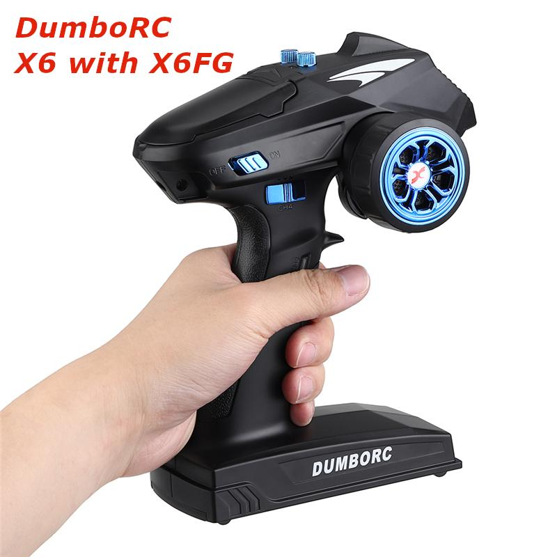 DumboRC X6 RC Transmitter 2.4G 6CH with X6FG Receiver RC Car Accessory Remote Control Boat Tank RC V