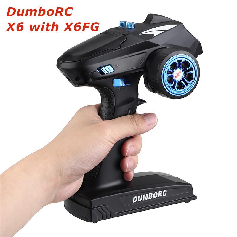 جهاز إرسال DumboRC X6 RC ، 2.4G ، 6CH مع مستقبل X6FG ، جهاز تحكم عن بعد ، قارب ، خزان ، نموذج سيارة RC ، أجزاء لعبة