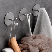 Stainless Steel Wall Hanger Hook 3M Self Adhesive Clothes Hooks Kitchen Towel Rustproof Organizer Hooks