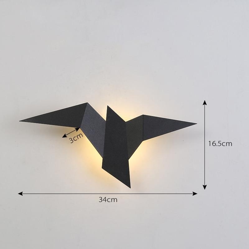 Nordic luz de parede led ferro pássaro lâmpada para sala estar luzes decoração da casa arandelas parede luz da escada quarto lâmpadas parede luz interior