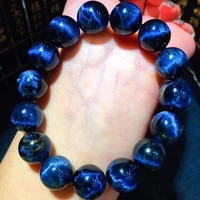 natural blue pietersite bangle bracelet round beads bracelet 13 2mm women men stretch crystal from namibia stone aaaaa