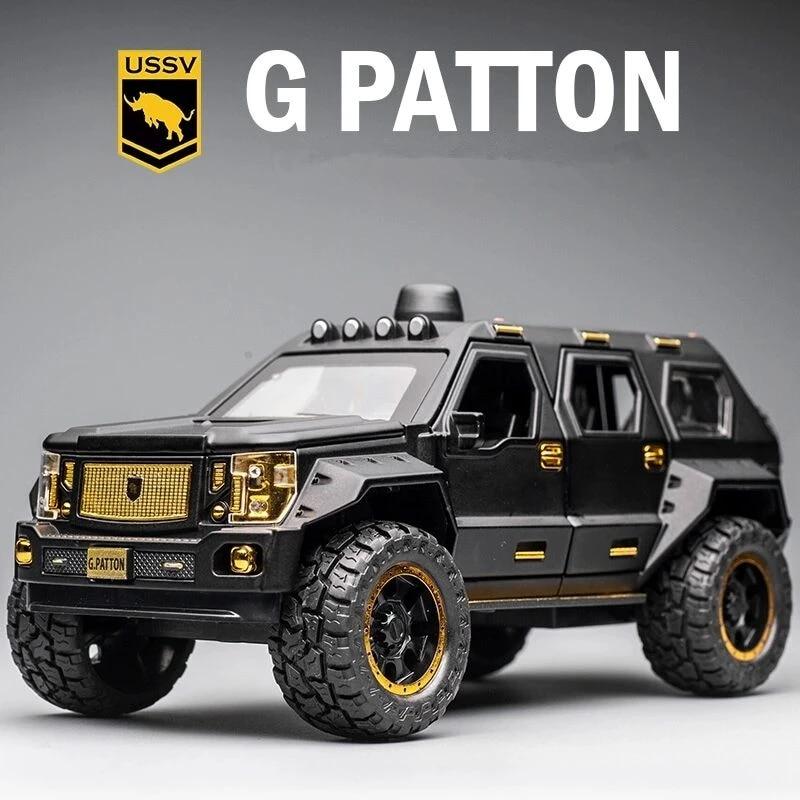 Модель автомобиля 1:24G.PATTON, модель игрушечного автомобиля из сплава, литой под давлением, модель автомобиля, коллекционная детская игрушка