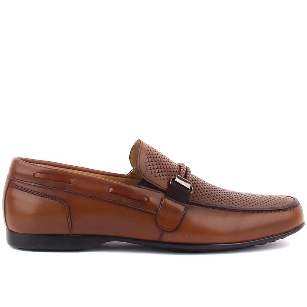 حذاء فوسكو تان جلد كلاسيك للرجال