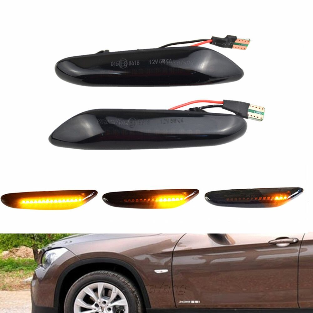 Luz LED intermitente secuencial con indicador lateral para BMW X3 E83 X1 E84 X5 X53 E60 E61 F10 E46 E81 E82 E90 E92 E87 E88 120I