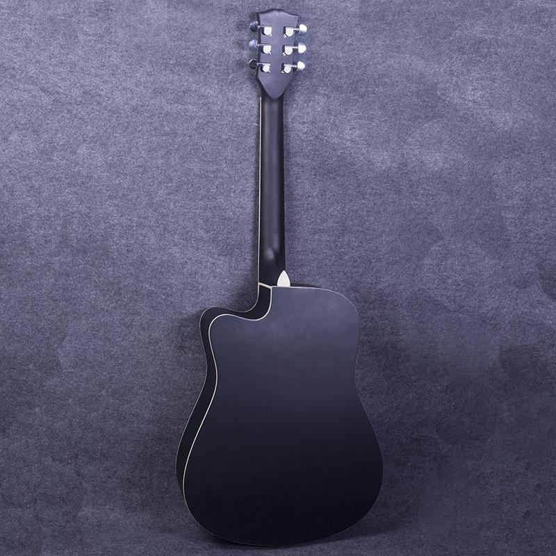 Hollow Body Guitar Semi closed Knob Fingerboard Rosewood Black Guitar Baritone Basswood Chitarra Classica Entertainment EH50G enlarge