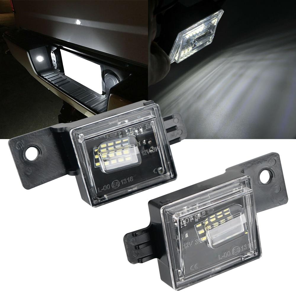 Para Chevrolet Silverado 1500 Colorado 2500 3500 2015-2018 2016 2017 coche 2x LED matrícula lámpara bombilla