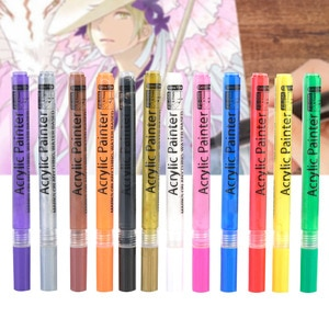 Waterproof Marker Pen Odorless Needle Pen Water-Based Pigment Ink Paint Pens With High Adhesion For Body Painting