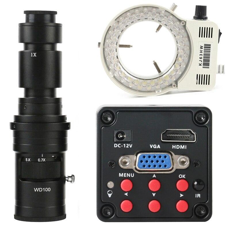 2020 سوني IMX307 CMOS الاستشعار 1080P HDMI VGA الصناعية كاميرا فيديو مجهر رقمي للهاتف مصلحة الارصاد الجوية وحدة المعالجة المركزية PCB إصلاح لحام